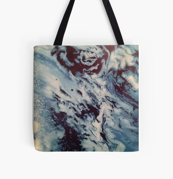 Ocean Wishy Washy Painting All Over Print Tote Bag