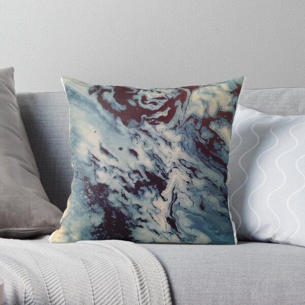 Ocean Wishy Washy Painting Throw Pillow