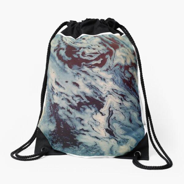 Ocean Wishy Washy Painting Drawstring Bag