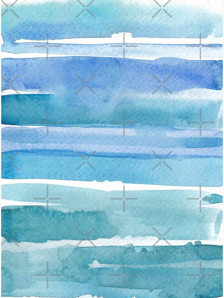Watercolour abstract art_shades of blue by ebozzastudio