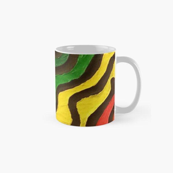 Rainbow Waves Painting Classic Mug