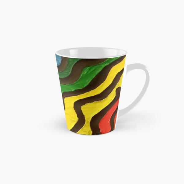 Rainbow Waves Painting Tall Mug
