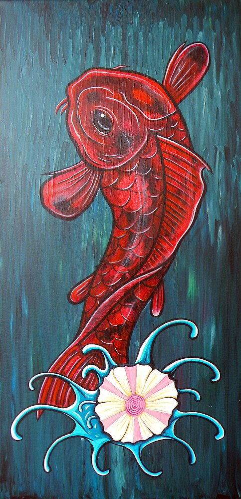 Red Koi by HiddenCityArt