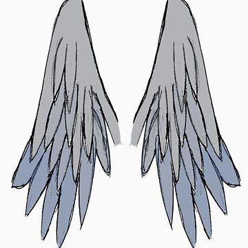 Castiels Wings by LibbyLion