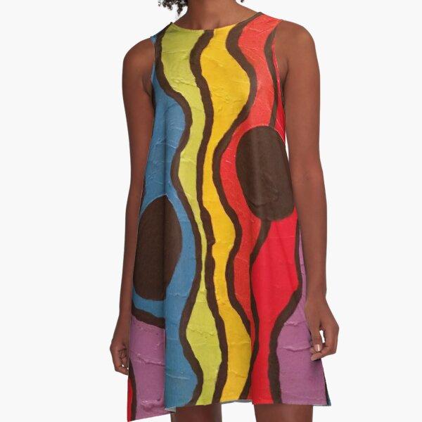 Traffic Light Painting A-Line Dress