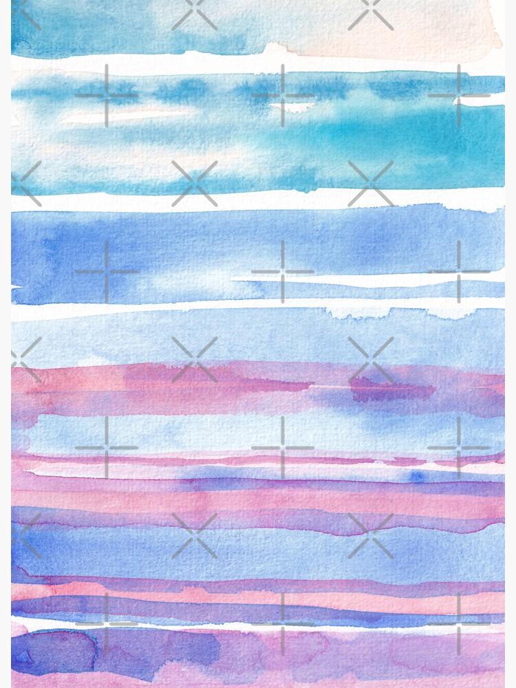 Watercolour abstract art_blue & magenta palette by ebozzastudio