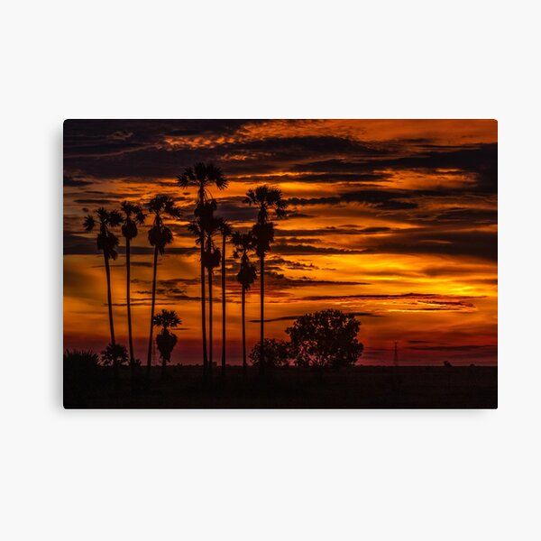 Cambodian Sunset Canvas Print