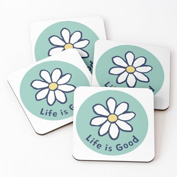 Life Is Good Daisy Coasters (Set of 4)