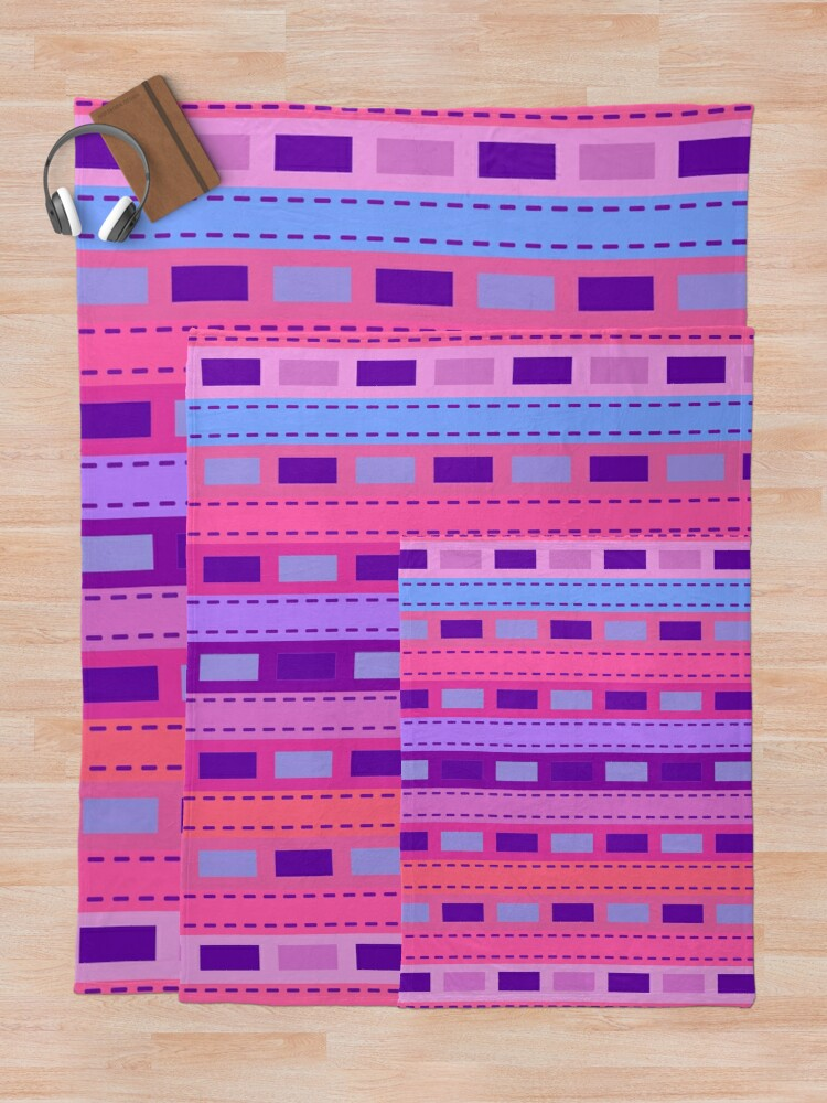Alternate view of Bohemian Pretty Girly Stripe Throw Blanket