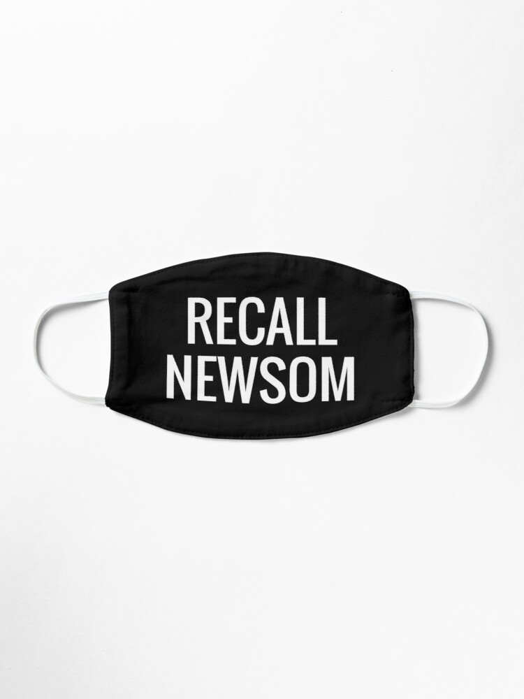 Alternate view of RECALL NEWSOM Mask