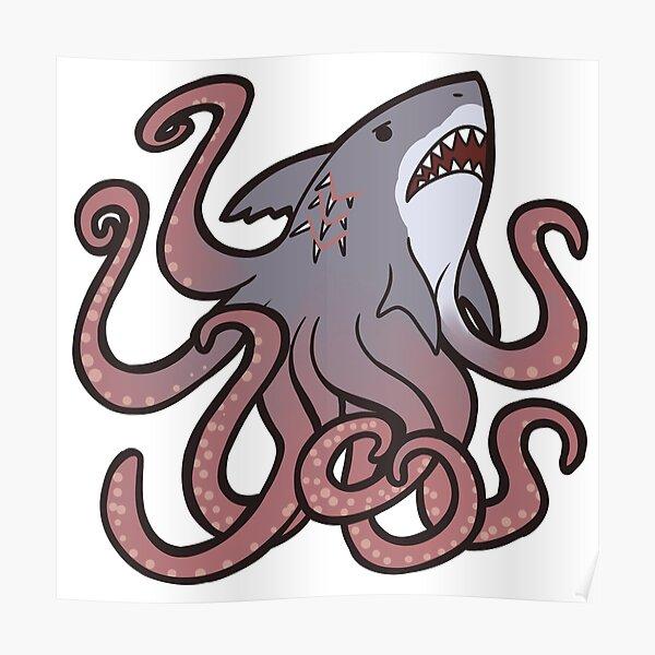 Cute Sharktopus Poster