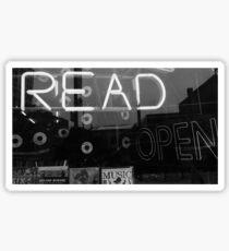 Read Read Read Sticker