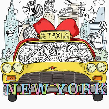 New York's Yellow Cab by ChloeSidh