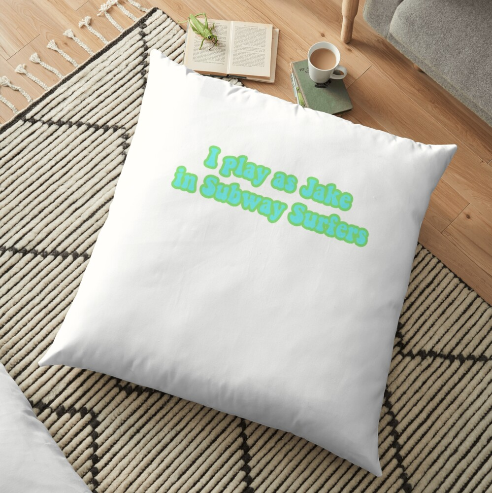 Subway surfer sticker Floor Pillow