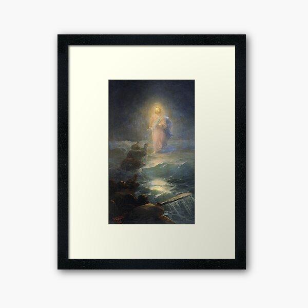 Jesus Walks On Water By Ivan Aivazovsky 1888  Framed Art Print