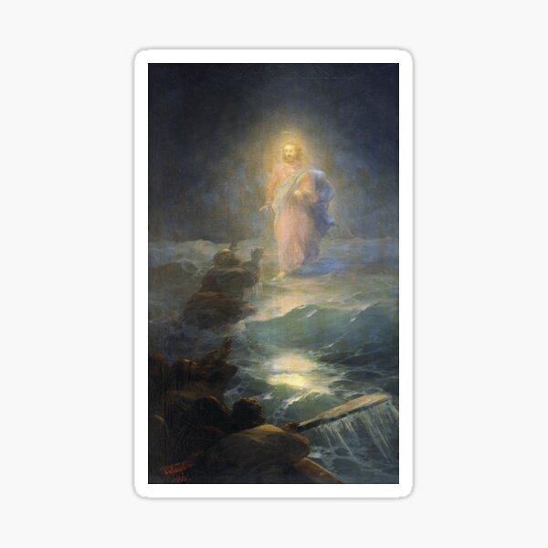 Jesus Walks On Water By Ivan Aivazovsky 1888  Sticker