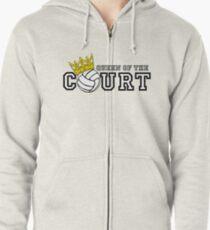 Queen of the Court Zipped Hoodie