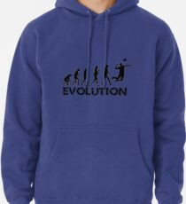 Evolution of a Volleyball Player Pullover Hoodie