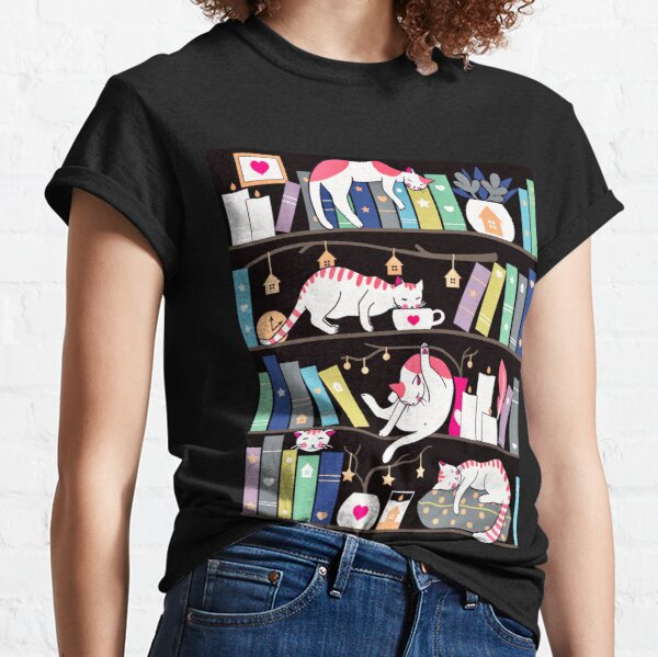 Library cats - winter colour version Classic T-Shirt