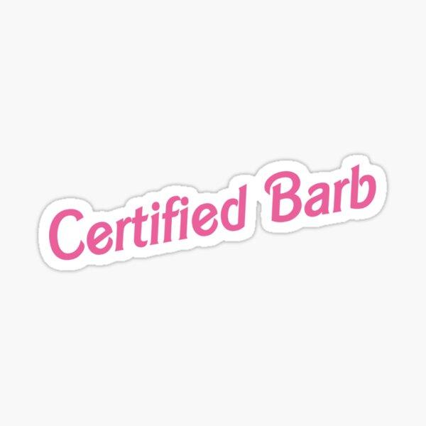 Certified Barb Sticker