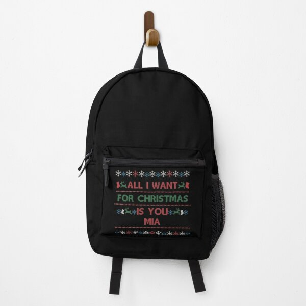 Christmas Name Xmas Santa Mia Backpack
