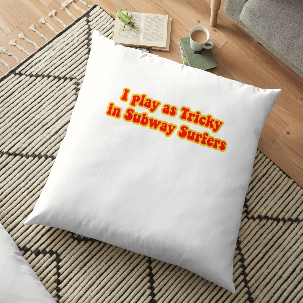 tricky subway surfers Floor Pillow