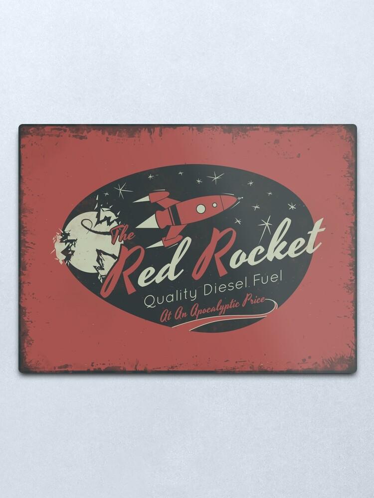 Alternate view of Red Rocket (Distressed) Metal Print