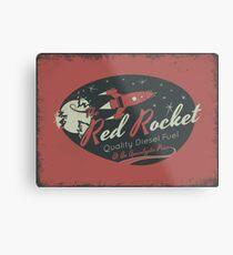 Red Rocket (Distressed) Metal Print