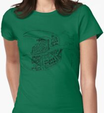 pub map of dublin Women's Fitted T-Shirt