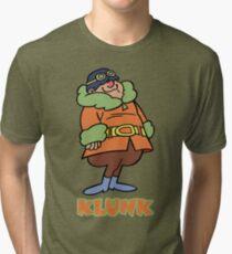* NEW * Klunk Cartoon Character Tr-Blend T-shirt