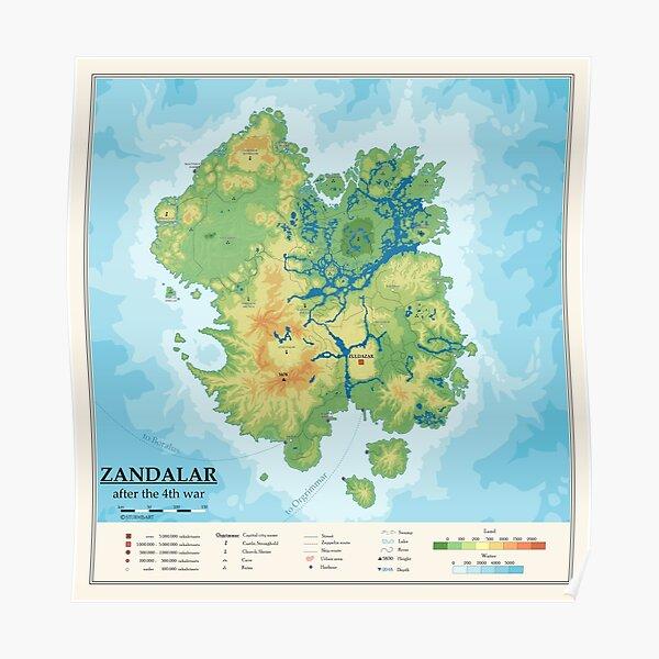 Detailed Zandalar map Poster