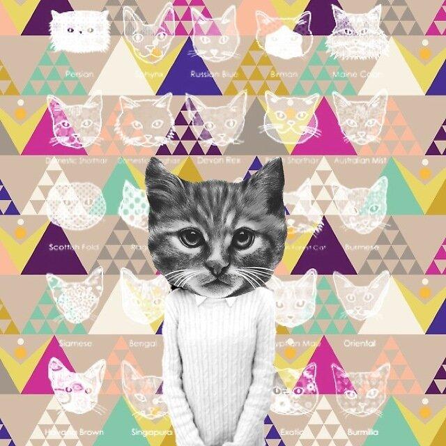 human cat by doodleniam