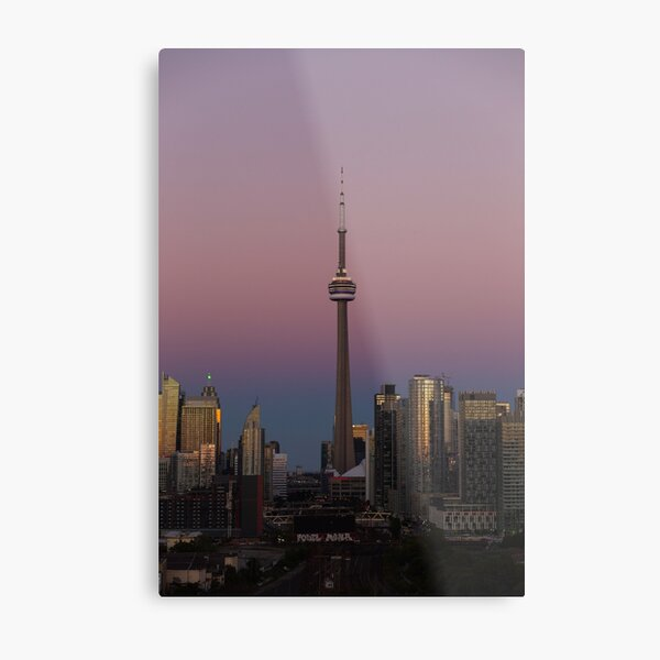CN Tower Sunset Metal Print
