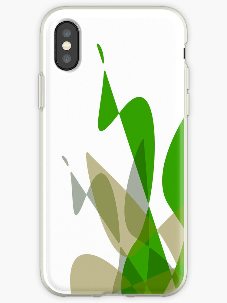 Green & White Graphic iPhone/iPod & iPad by GJPart