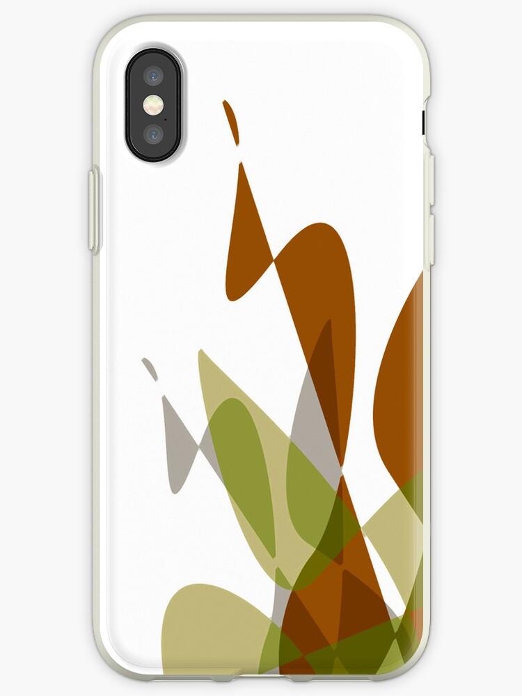 Orange & White Graphic iPhone/iPod & iPad by GJPart