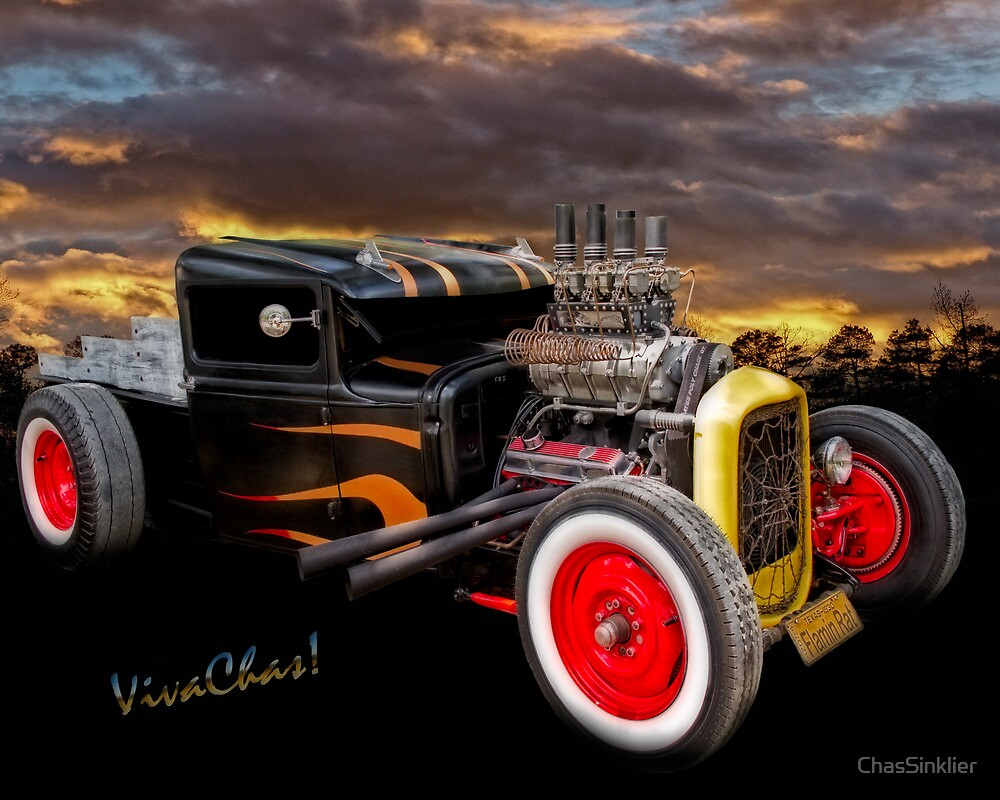 Flaming Rat Rod River Side Picnic by ChasSinklier