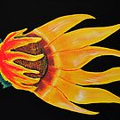 Sunflower on fire by Guy Wann
