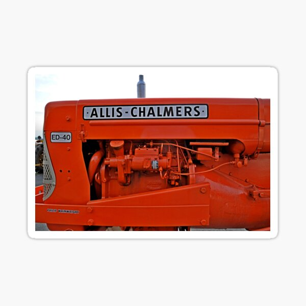View of an Allis Chalmers vintage tractor Sticker