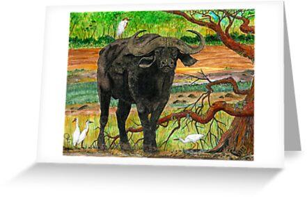 King of the Cape Buffalo by Doug Hiser