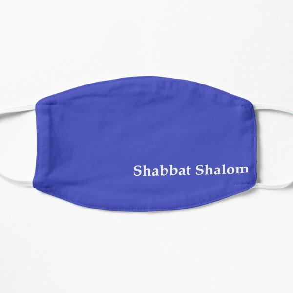 Shabbat Shalom Flat Mask