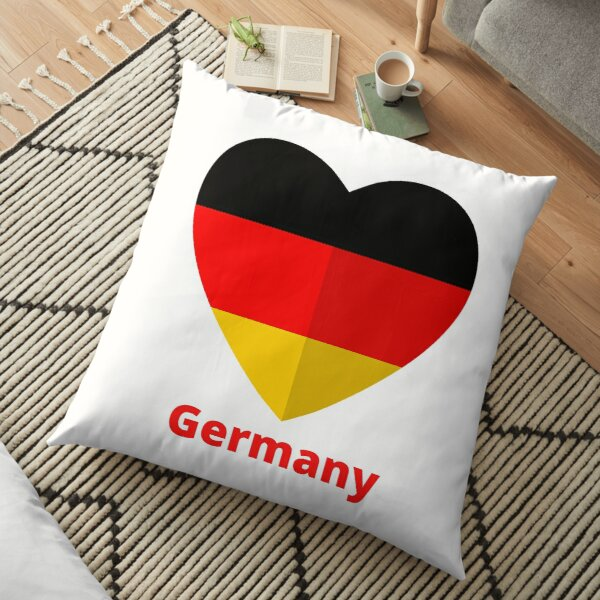German Flag Floor Pillow