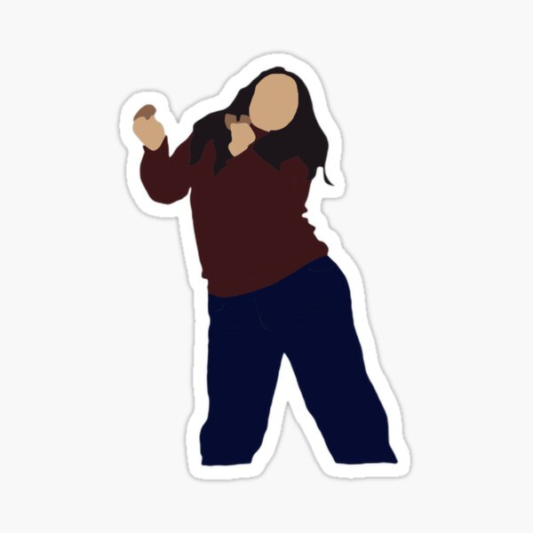 Fat Monica Dancing Sticker