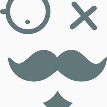 Mustache face by aditya26j
