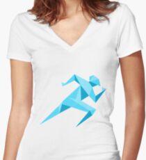 run geek Women's Fitted V-Neck T-Shirt