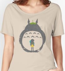 Totoro Silhouette Women's Relaxed Fit T-Shirt