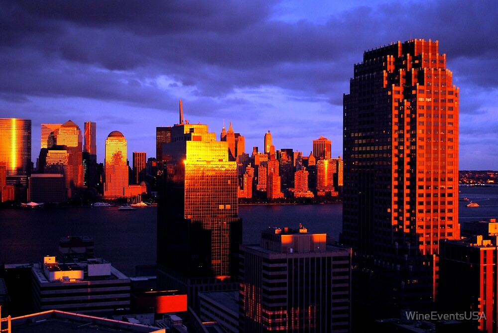 New York / New Jersey Sunset on Hudson by WineEventsUSA