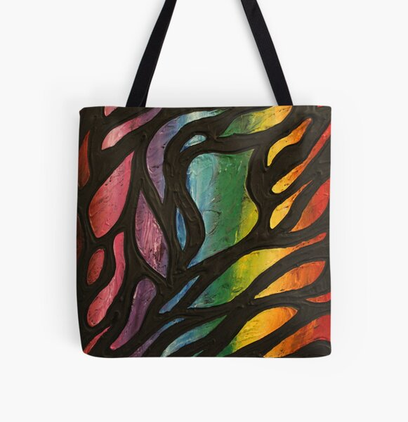 Fire Flame 2 Painting All Over Print Tote Bag