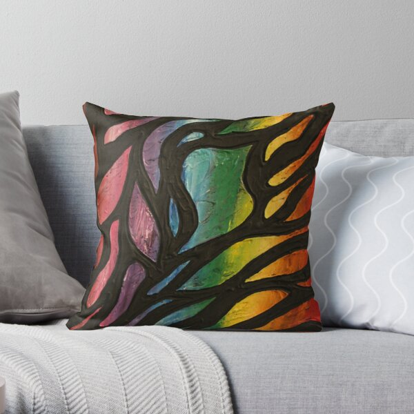 Fire Flame 2 Painting Throw Pillow