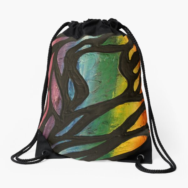 Fire Flame 2 Painting Drawstring Bag