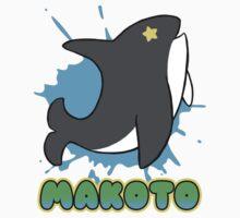 Free!  Makoto's Whale Tee | Baseball  Sleeve